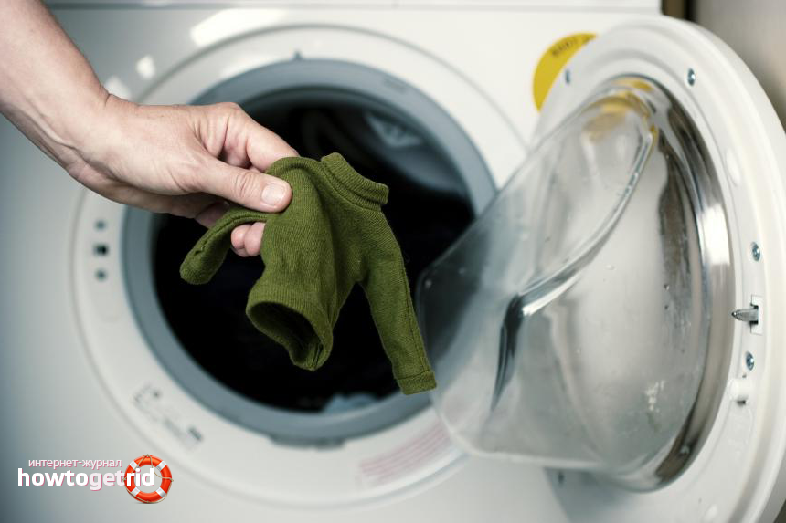 Как стирать и сушить вязаные вещи