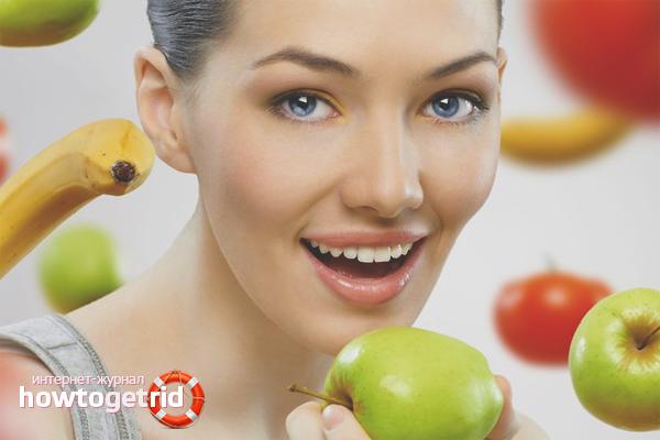 Правильное питание от складок на животе