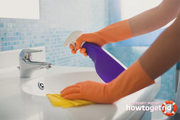 Как избавиться от известкового налета в ванной