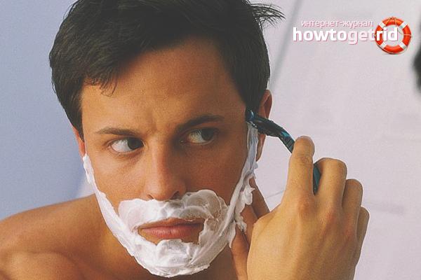 Как избавиться от прыщей после бритья