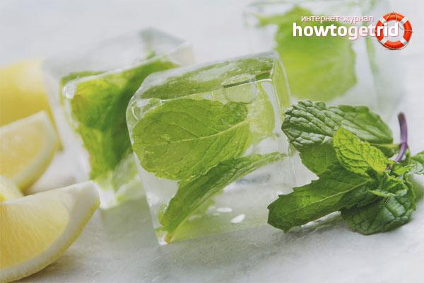 Косметический лед от расширенных пор на лице