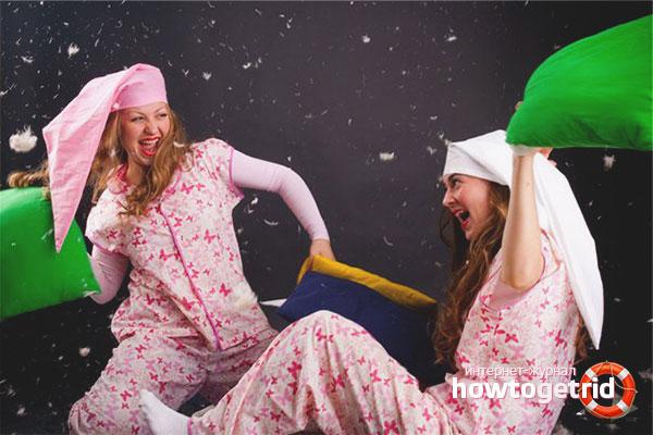 Игры и конкурсы для пижамной вечеринке