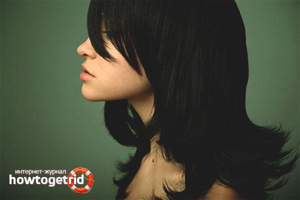 Как избавиться от черного цвета волос