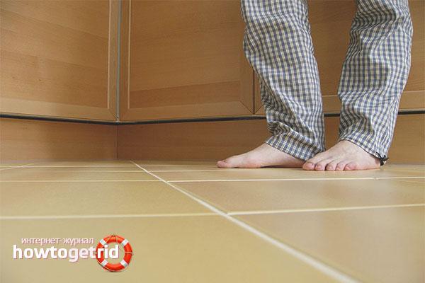 Как утеплить пол в квартире на первом этаже