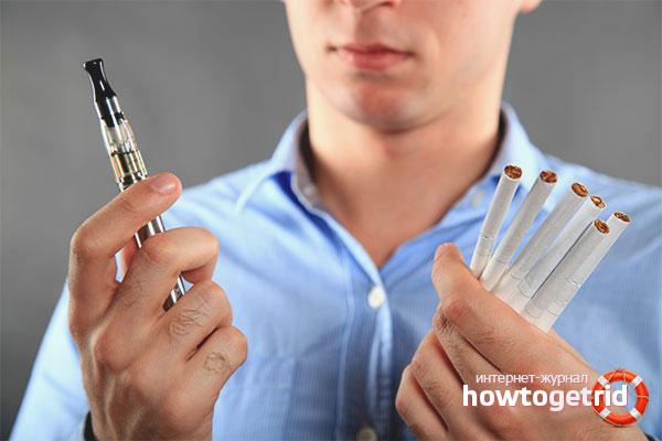 Вред электронных сигарет по сравнению с обычными