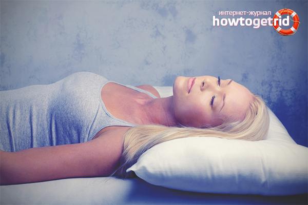В какой позе правильно спать
