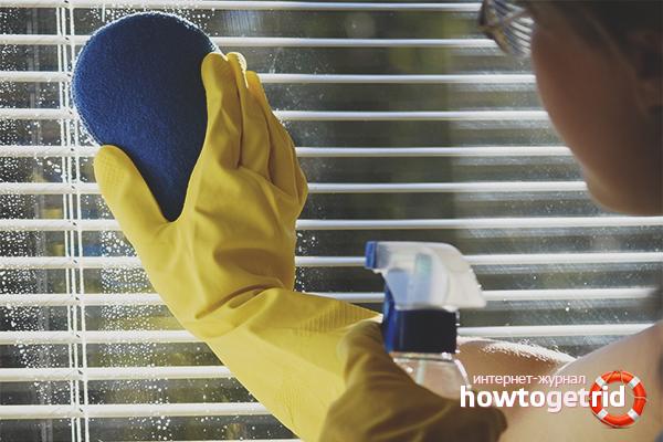 Как чистить горизонтальные жалюзи