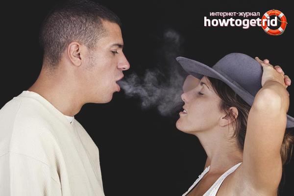 Как избавиться от запаха сигарет изо рта