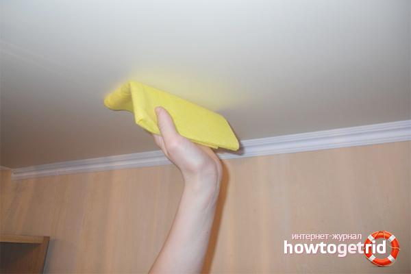 Как мыть матовые потолки