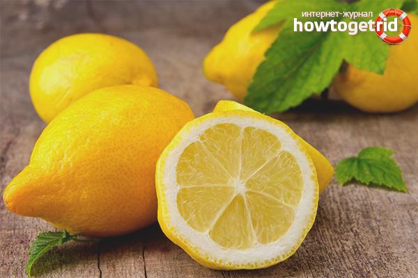 Осветление кожи лица лимоном