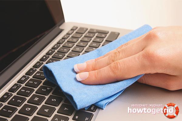 Как почистить клавиатуру ноутбука