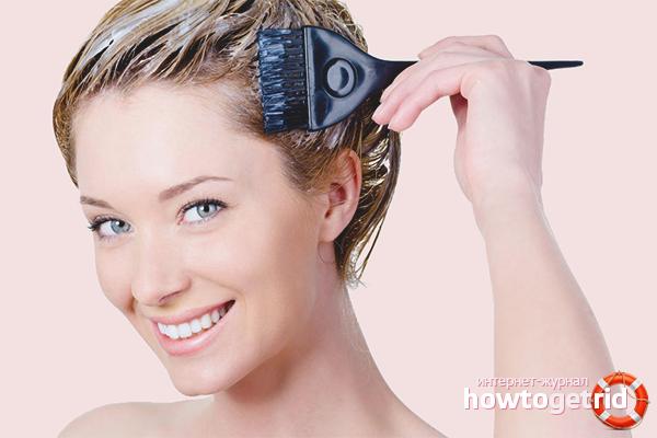 Как покрасить волосы из брюнетки перейти в мелированные белые локоны - 3