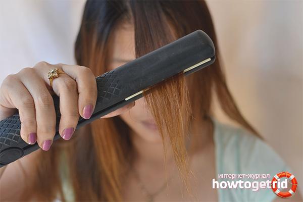 Как выпрямлять волосы утюжком