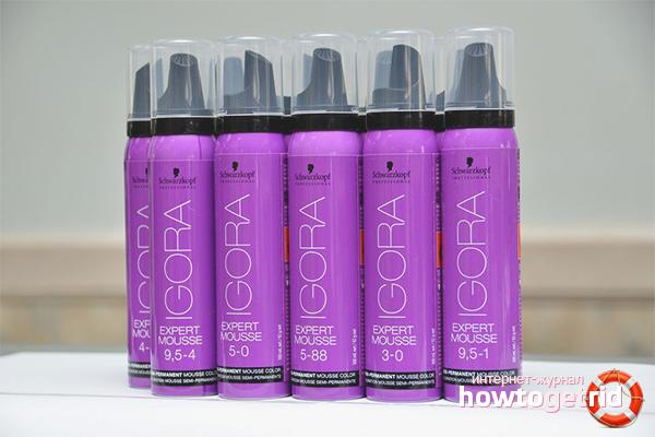 Как затонировать волосы муссом