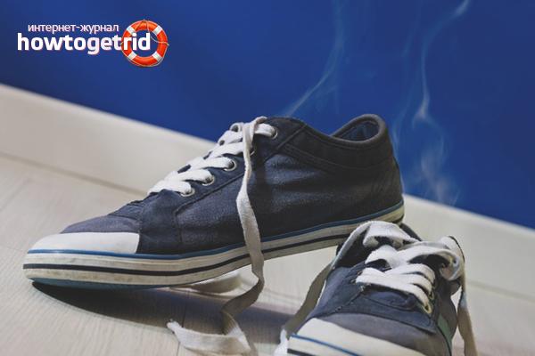 Как избавиться от неприятного запаха в кроссовках