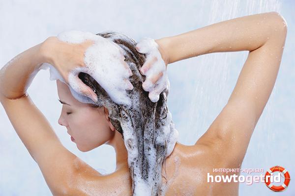 Регулярное мытьё волос