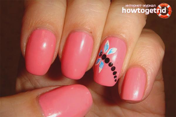 Как использовать акриловые краски для ногтей