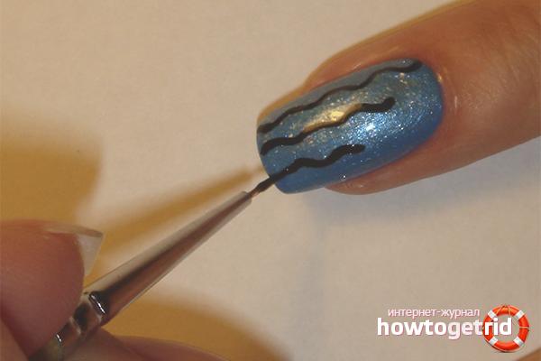 Как работать с акриловыми красками на ногтях