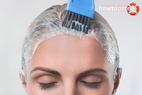 Как развести краску для волос