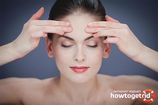Как убрать морщины на лбу с помощью массажа