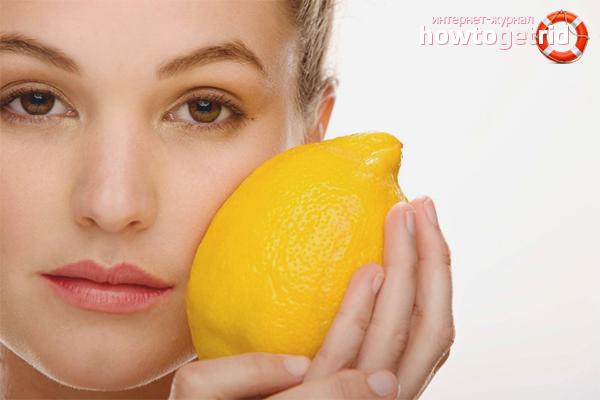 Лимонный лосьон для лица