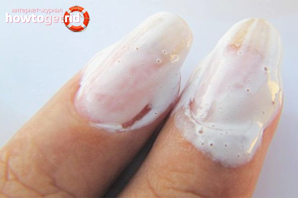 Отбеливание ногтей зубной пастой