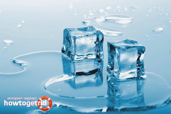 Дистиллированная вода изо льда