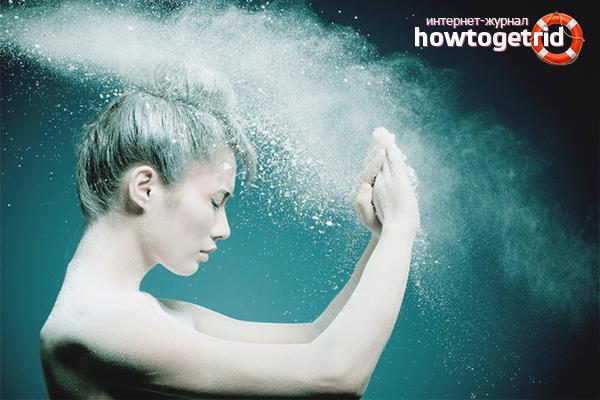 Как пользоваться сухим шампунем в форме порошка