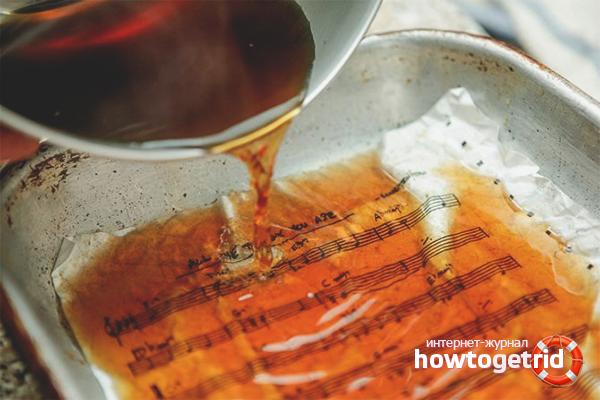 Как состарить бумагу чаем