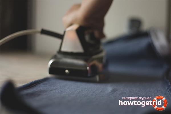 Как высушить джинсы утюгом