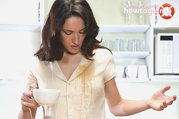 Как вывести пятно от кофе с одежды