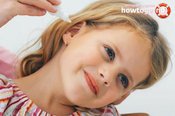 Как правильно закапать капли в ухо