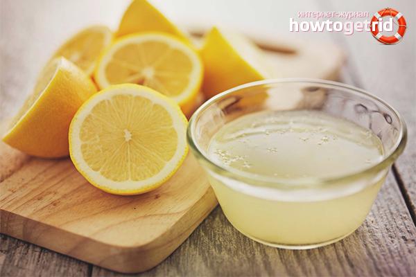 Лимон от пятен кофе
