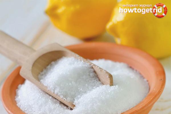 Лимонная кислота для отбеливания кроссовок