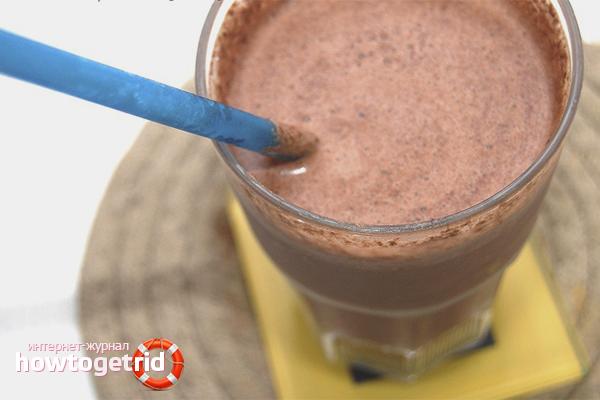 Протеиновый шоколадный коктейль