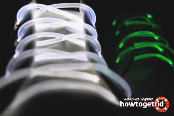 Светящиеся шнурки из трубок