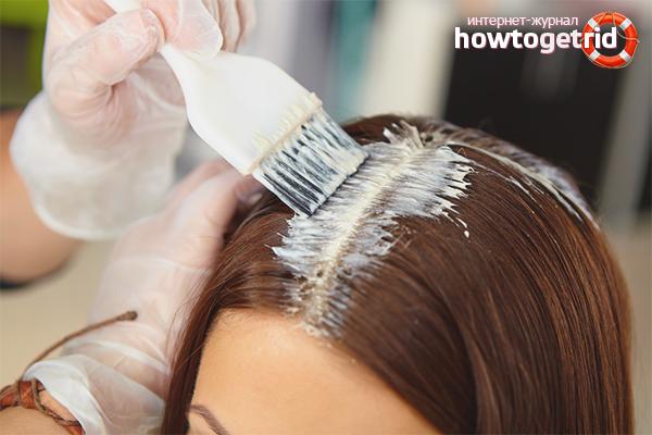Технология окрашивания корней волос
