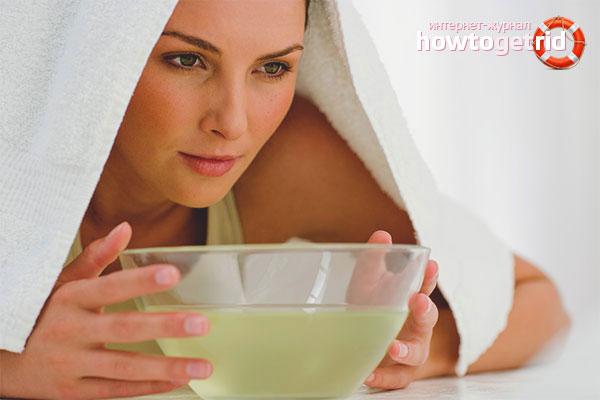 Ингаляции от мокроты в горле