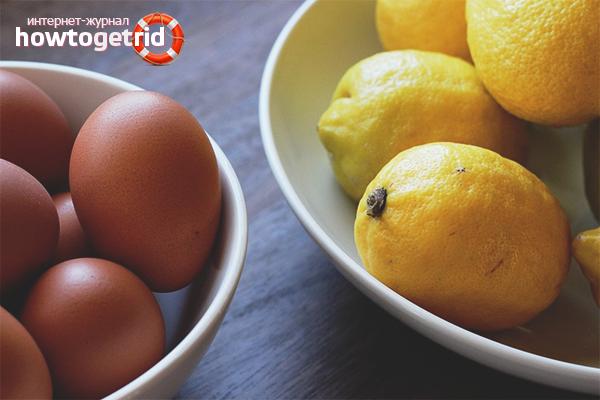Яйцо и лимон