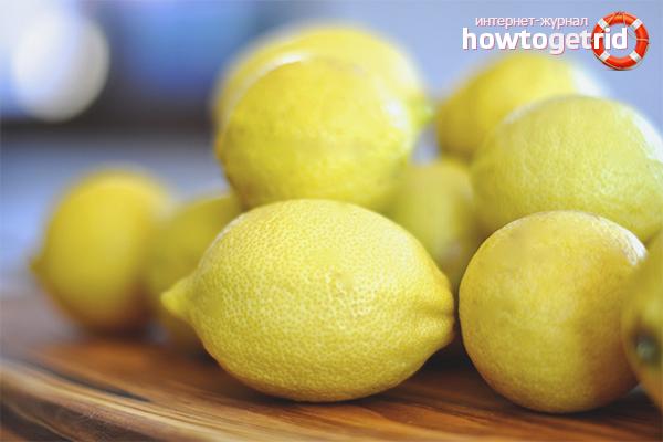 Лимон от пятен от дезодоранта