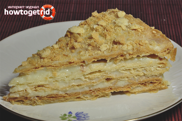 Рецепт заварного крема для торта «Наполеон»