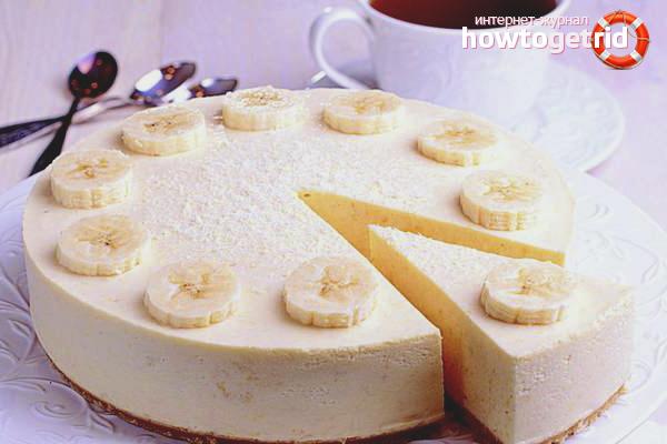 Банановый чизкейк в мультиварке
