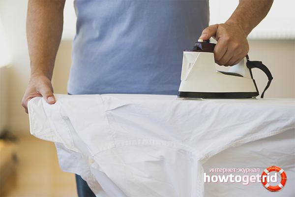 Как гладить рубашку с длинным рукавом