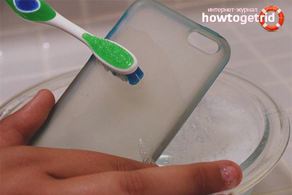 Как почистить силиконовый чехол для телефона