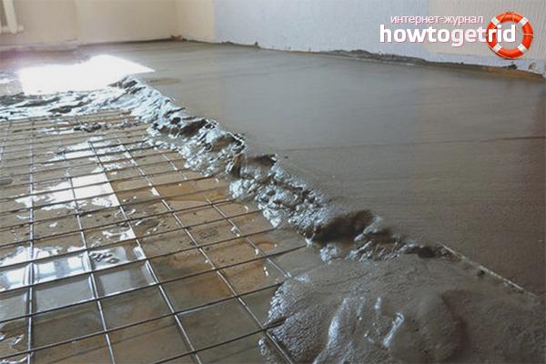 Как выровнять бетонный пол под линолеум