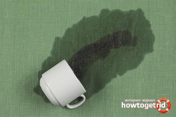 Как вывести пятно от чая
