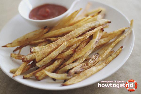 Низкокалорийный картофель фри в духовке