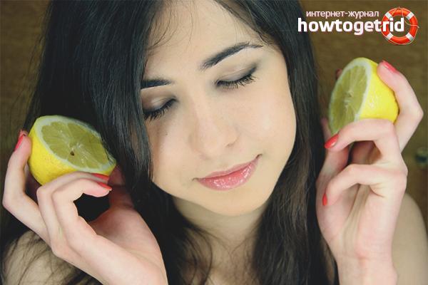 Смывка волос лимоном