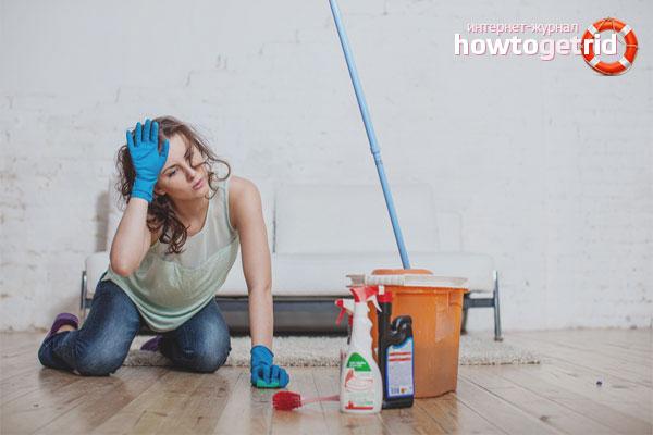 Выбор моющего средства для очистки ламината