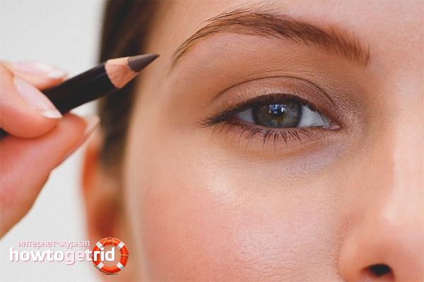 Как красить брови карандашом